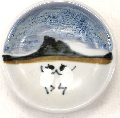 Decorative HIGHLAND STONEWARE Sheep Themed Painted Saucers Plate  - W27 • 13.50£