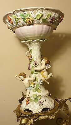 Magnificent 18/19 Century Mession Porcelain  Or A Compote Dresden. 41cm High • 585£