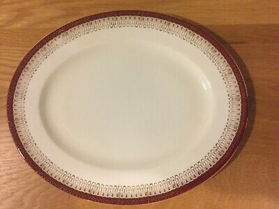 Royal Grafton Majestic Red Oval Platter • 15£
