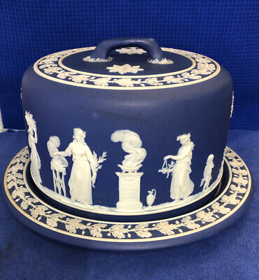 Wedgwood Jasper Ware Blue 'Rare Early' Stilton Plate With Lid • 100£
