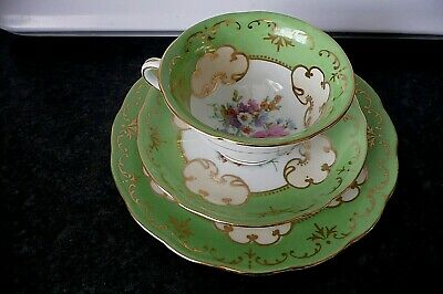 Vintage Sevres Porcelain 'trio' Cup Saucer And Side Plate.  • 13.49£