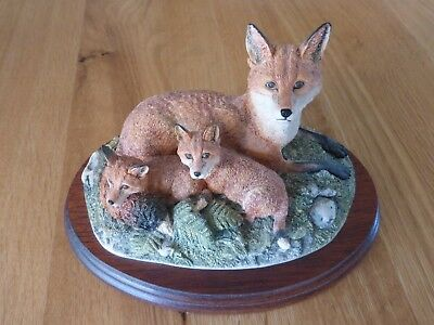 Border Fine Arts Family Portrait Foxes Bnib • 17.50£