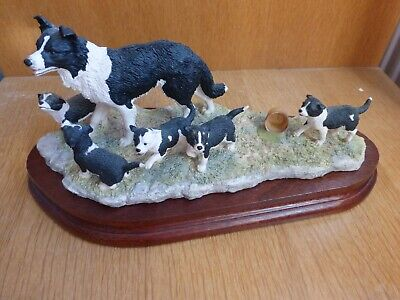 Border Fine Arts Border Collies Wait For Me Signed • 115£
