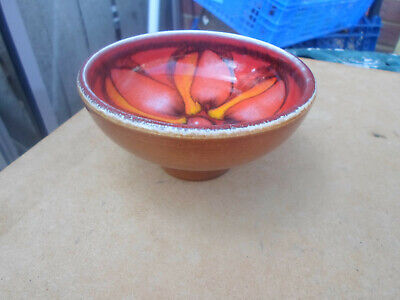 Vintage Poole Pottery Delphis Shape 38 Footed Bowl • 9.50£