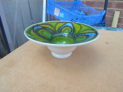 Vintage Poole Pottery Delphis Shape 75 Footed Bowl • 9.50£