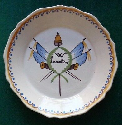 Antique French Revolution Faience Plate Vive La Nation Support Monarchy 1790 • 19.99£