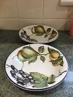 Staffordshire Autumn Fayre 8.5ins Bowls X 2 Great • 9.99£