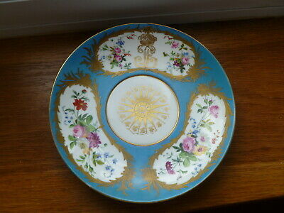 SEVRES KING LOUIS PHILIPPE PORCELAIN SAUCER DISH, ROYAL CYPHER Circa 1847 • 80£