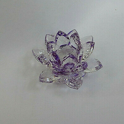 New Crystal Candle Holder Lotus Flower • 2.99£