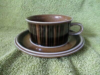 1 X Arabia Pottery Kosmos Cup + Saucer  - 1960-70's - Finland • 7.49£
