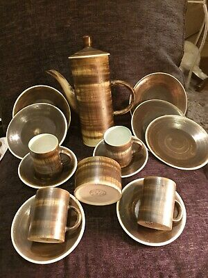 The Monastery Cinque Ports Rye Studio Art Pottery 10 Piece Coffee Set 5 Plates • 14.99£