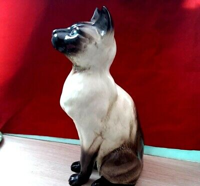 Beswick Siamese Large Cat Figurine Collectible Animals 2139 England • 26£