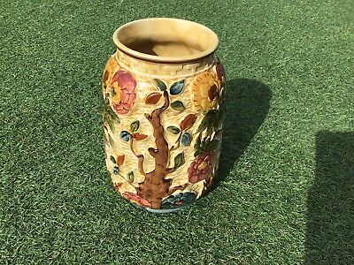 Indian Tree Window Vase, Collectible Vintage,hand Painted,H J WOOD. • 25£