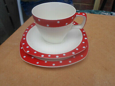 Midwinter Stylecraft Red Domino Trio Cup,Saucer ,Plate  • 7.50£