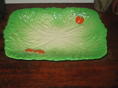 Large Beswick Footed Dish Tomato Leaf Design • 24£