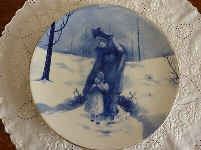 V Large (32 Cm) Antique Royal Doulton  Blue Children  Wall Plaque/Plate  Winter  • 265£