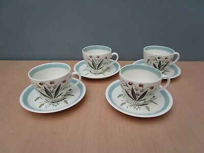4 Alfred Meakin  Hedgerow  Cups And Saucers • 6£