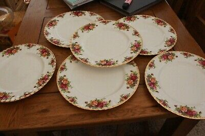 ROYAL ALBERT OLD COUNTRY ROSES DINNER PLATES X 6 • 59.99£