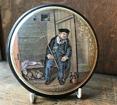 Prattware Pot Lid On Guard With Dog & Burgess Essence Of Anchovies Advert  • 20£
