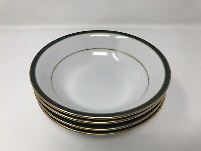 4 X Boots Hanover Green Cereal Bowl • 19.99£