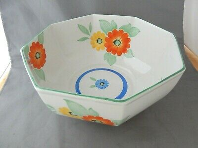 Lovely Large Octagonal Shaped Shelley China Bowl With Floral Design • 16.99£