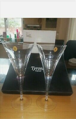 """Tyrone Crystal """"CUBIS"""" Wine Glasses  • 40£"""