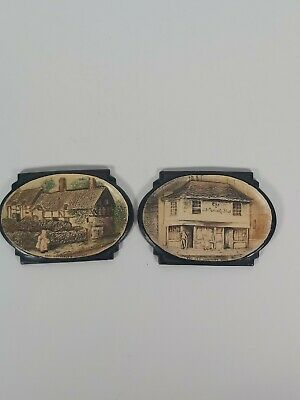 A Bretby Art Pottery Small Wall Plaques 12.5x8.5cm  • 20£