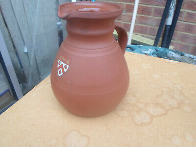 Antique Wedgwood Terracotta Cambridge University Trinity College Arms Ale Jug • 16£