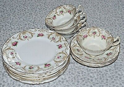 Pretty Antique 14-piece Royal Doulton Incised China Tea Set. Matching Numbers. • 20£