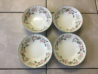 BHS  4 Victorian Rose Cereal Bowls • 9.50£