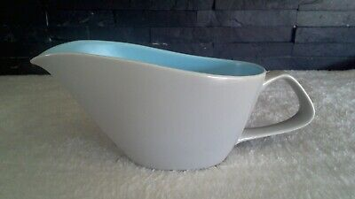Poole Pottery Twintone Sky Blue & Dove Grey Gravy Boat Jug - FREE POSTAGE • 14.99£
