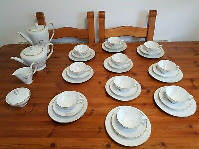 34 Pc.Rosenthal Made In Germany White Fine China With Gold Coffee And Tea Set  • 100£