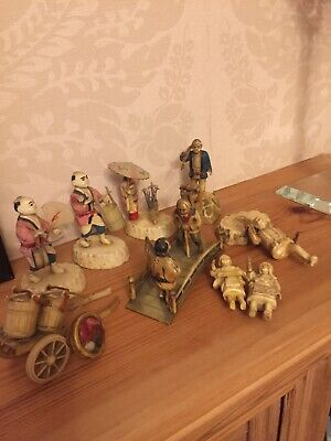 Collection Of Vintage Celluloid Kokeshi Minitures • 25£