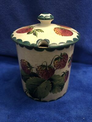 Vintage Wemyss Pottery Strawberry Pattern Conserve Jar • 48£