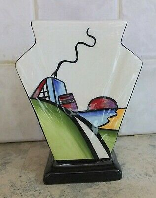 Lorna Bailey Deco House Vase SIGNED PERFECT. • 28£