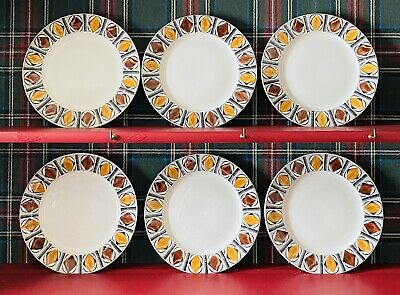 """6 """"Mexico"""" Kathie Winkle Dinner Plates • 14.99£"""