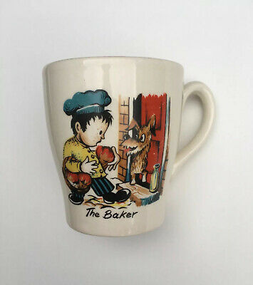Vintage Childrens Pottery Cup 'The Baker' • 2£