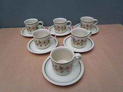6 Marks And Spencer  Autumn Leaves  Cups And Saucers • 10£