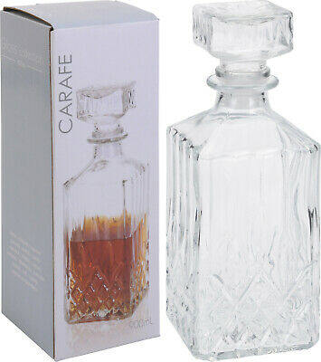 Glass Decanter Whiskey Sherry Brandy Liqueur Decanter Wine Decanter Carafe  • 5.95£