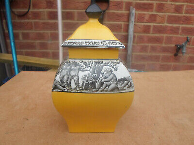 Vintage Arcadian Non Crested Ware Ware Ginger / Temple Jar Bacchus Boys + Grapes • 14.50£