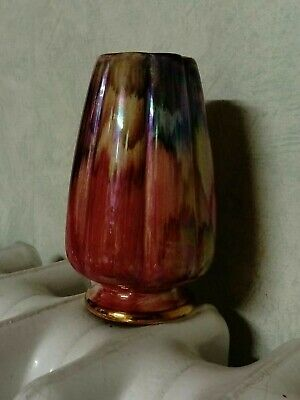 Oldcourt Ware Hand-painted Lustre Vase By J. Fryer & Sons 1950's • 2.99£