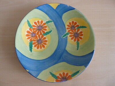 Rare Clarice Cliff Plate - Blue Ribbon Pattern • 9.99£