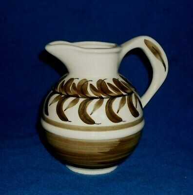 Vintage Retro Jersey Studio Pottery Leaf Pattern Milk Jug • 3.99£