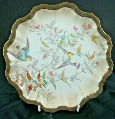 Doulton Burslem Aesthetic Period Hand Painted Plate With Large Bird • 49.99£
