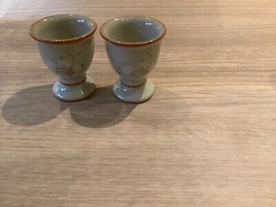 Denby Daybreak Pair Of Egg Cups Mint Condition • 4£