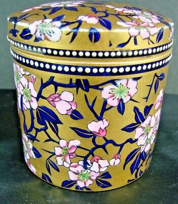 RARE C1880 ANTIQUE COALPORT GILDED JEWELLED JAPANESQUE FLORAL LIDDED JAR • 29.99£