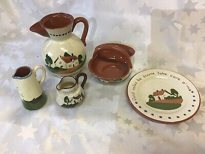Motto Ware Devon/ Torquay/ Watcombe Ware Pottery : 5 Pieces • 14.95£
