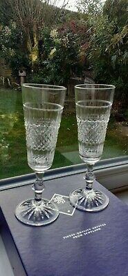 2 Edinburgh Crystal Champagne Flutes/ Glasses. Cameron Pattern. Pair.Boxed. New • 15£