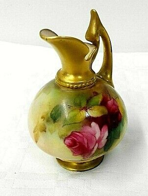 Royal Worcester Hand Painted & Gilded Jug Circa 1920 Perfect Condition   • 20£