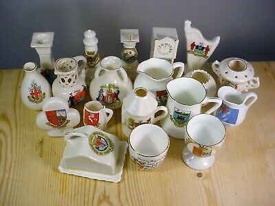 Job Lot 19 Pieces Crested China • 9.99£